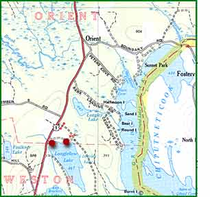 Danforth Maine Map.Directions To Paradise Cabins Danforth Maine